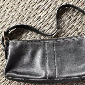 Coach Black Leather Baguette Purse F04S-7461